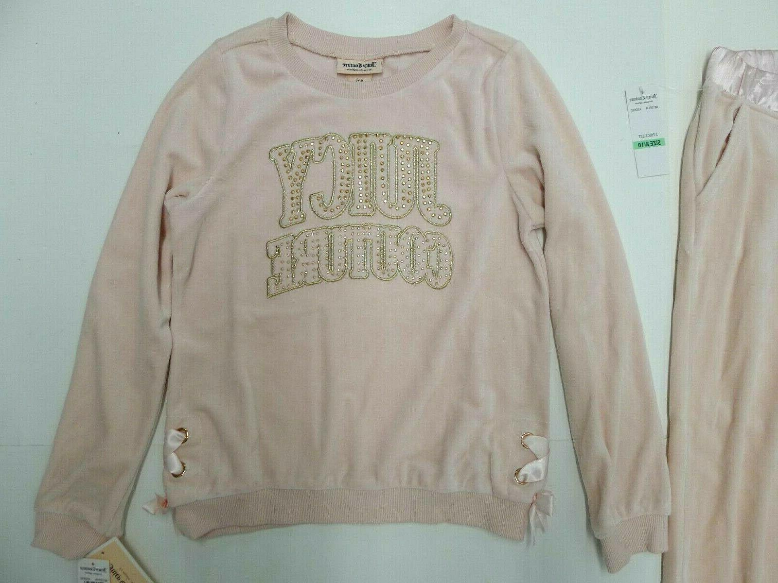 NWT Juicy Couture Girls 2 Jog Pink