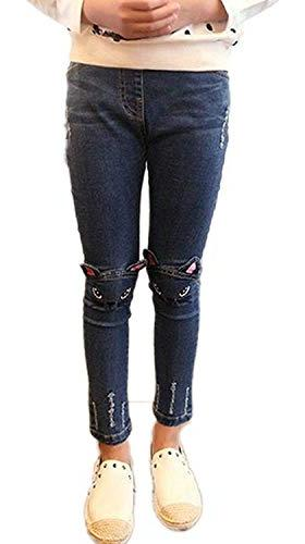 Sitmptol Stretchy Jeans Kids Ripped Denim Trousers Jeggings 4-13 Years Blue