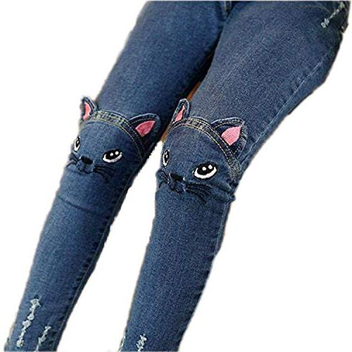 Sitmptol Stretchy Jeans Kids Denim Jeggings Age Years Blue