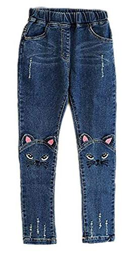 Sitmptol Girls Kids Denim Trousers Jeggings 4-13 Blue 140