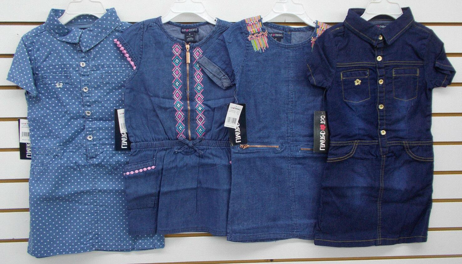 toddler and girls 32 assorted denim dresses