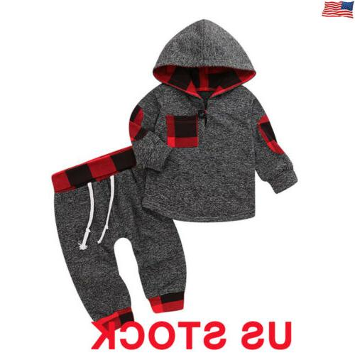 toddler baby boys girls outfits clothes hoodie
