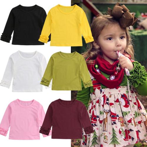 Toddler Girl Cotton Color Tee T-Shirt Clothes