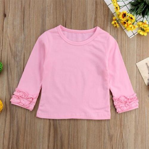 Toddler Baby Kids Cotton Long Sleeve Color Clothes