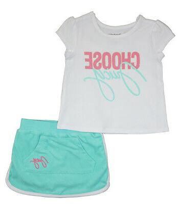 toddler girls white and turquoise 2pc scooter