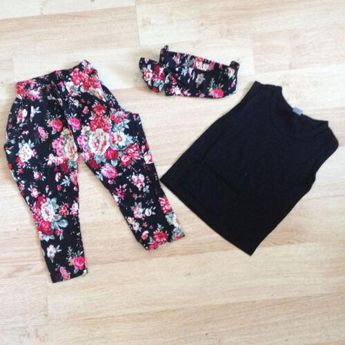 Toddler Kids Baby Girls Summer T Tops Pants Casual Outfits