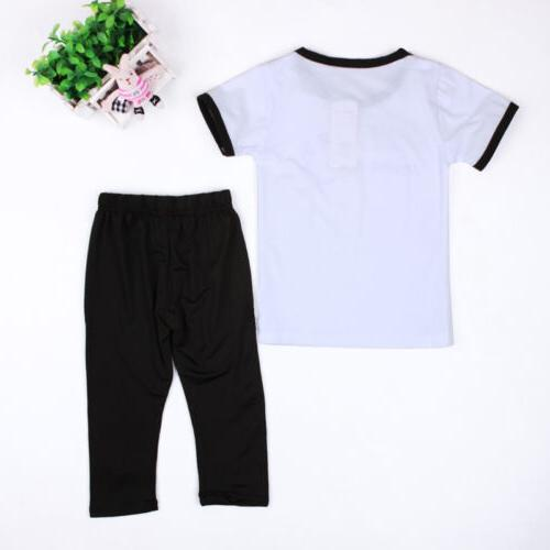 Toddler Baby Summer Clothes Tops + Pants Casual Outfits