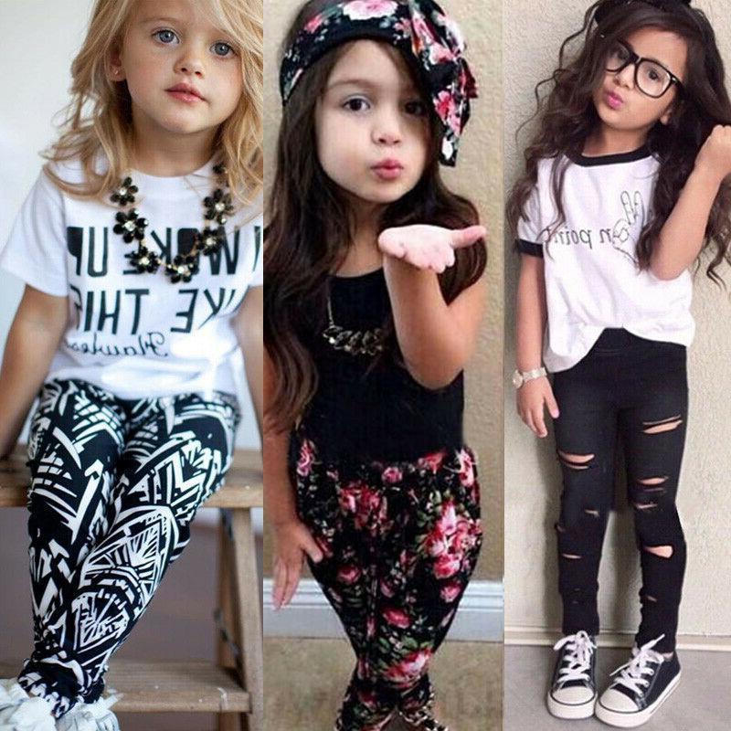 toddler kids baby girls summer clothes t