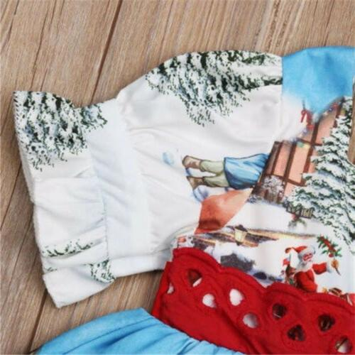 Toddler Baby Girls Christmas Dress Clothes US