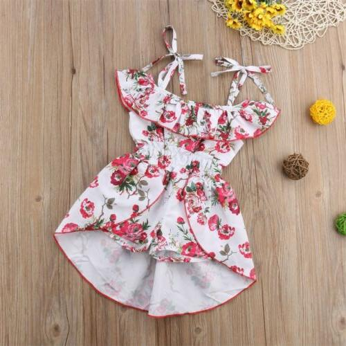 Floral Kids Girl Romper Bodysuit Jumpsuit Outfits