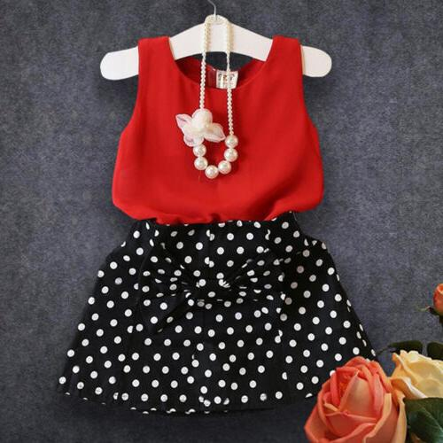 Toddler Kids Baby Outfits Tops + 2Pcs