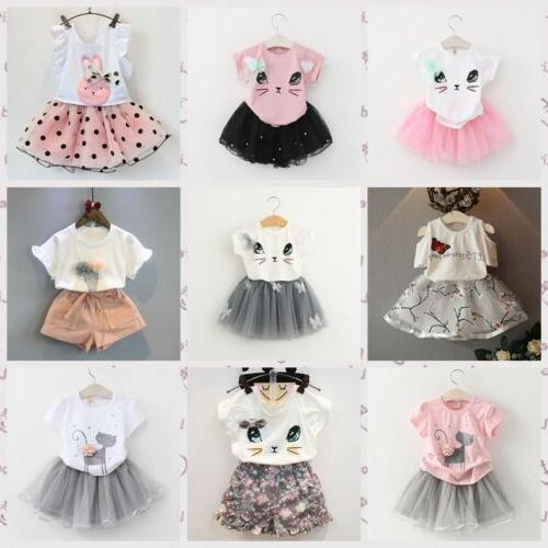 toddler kids girls baby outfits clothes t