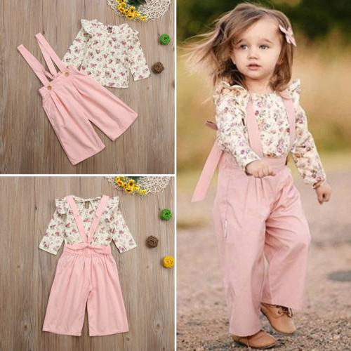 US Baby Floral Tops+Pants