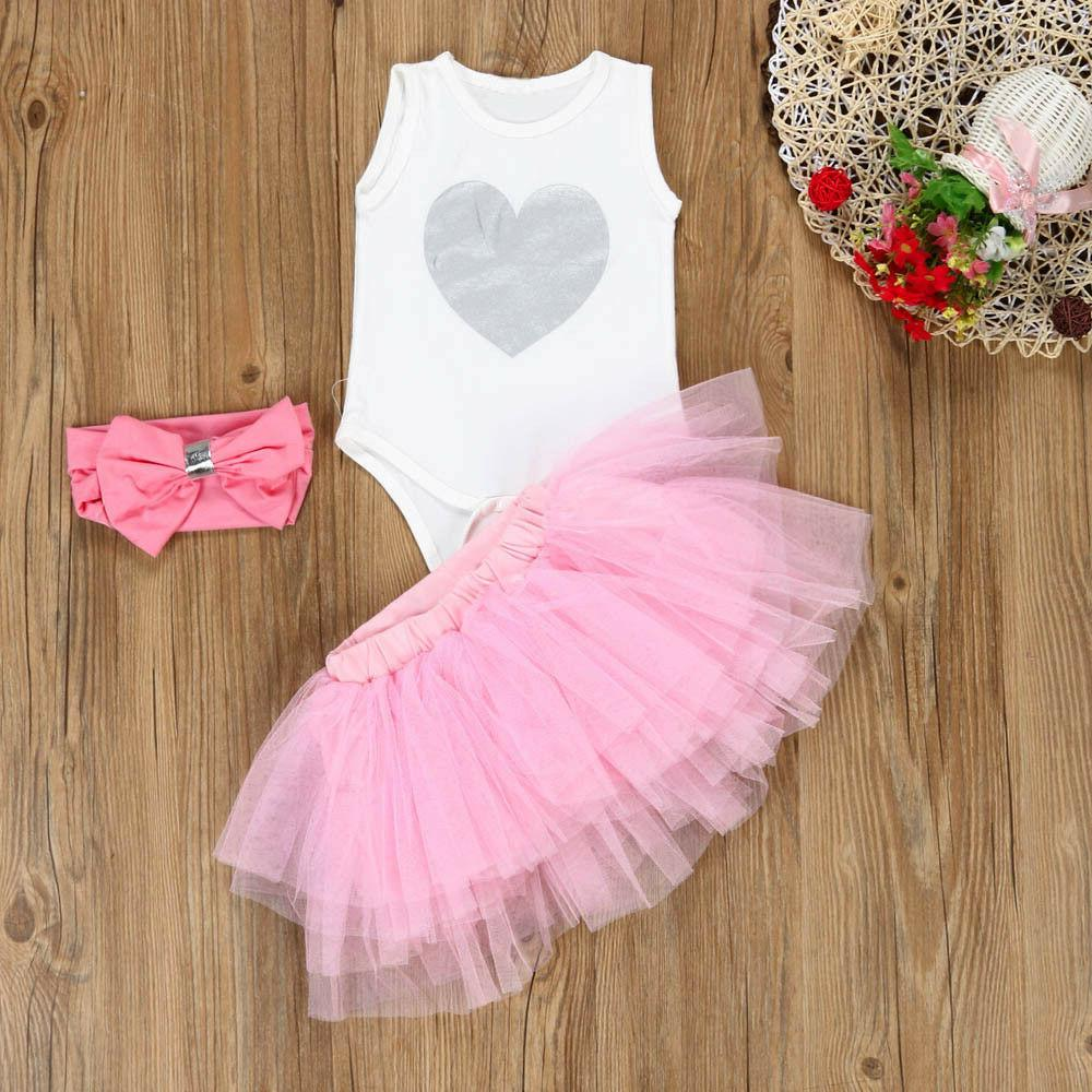 US Baby Girl Outfit Tutu Set