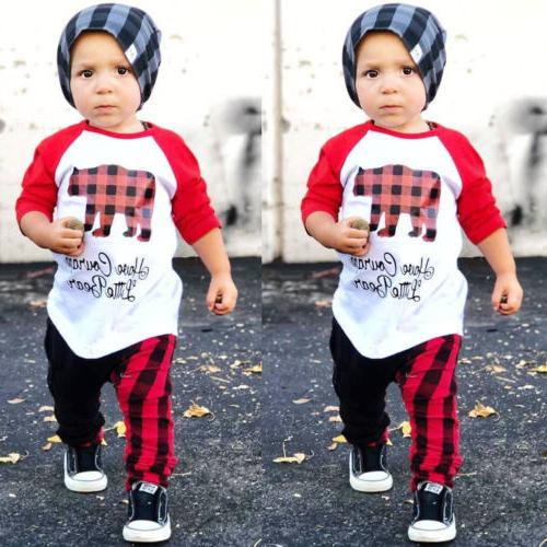 us christmas outfits toddler kids baby boys