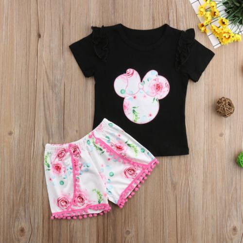 US Kid Girls Minnie Mouse Tops+ Outfits