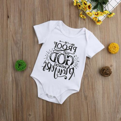 US Newborn Infant Toddler Baby Girl Romper Bodysuit Sunsuit Clothes