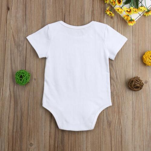 US Toddler Baby Girl Boy Bodysuit Sunsuit