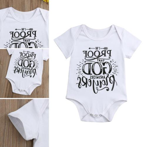 US Newborn Baby Bodysuit Jumpsuit Clothes