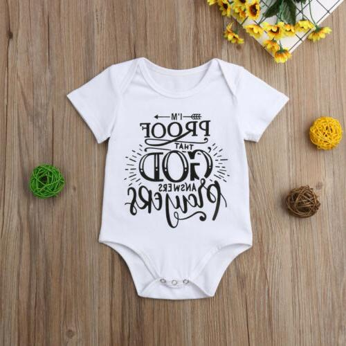 US Newborn Infant Toddler Baby Girl Boy Romper Bodysuit Jump