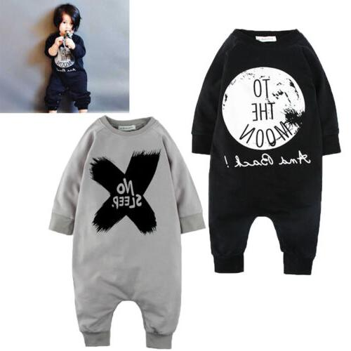 US Newborn Girls Boys Romper Jumpsuit One-pieces Outfits