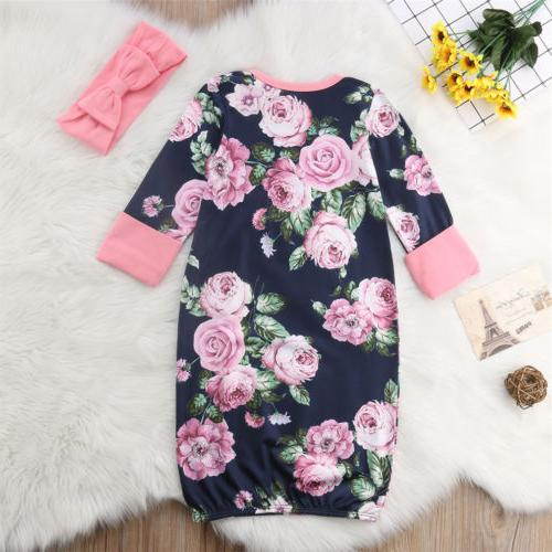 US Stock Newborn Long Sleeve Outfits Romper Lovely