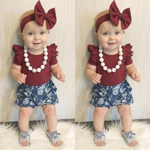 US Stock Newborn Baby Floral Clothes Tops