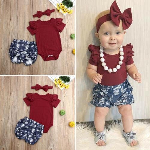 US Stock Baby Floral Tops