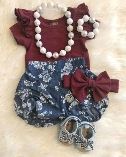 us stock newborn infant baby girl floral