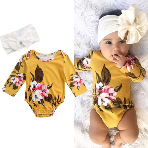 USA Baby Girls Romper Outfits Clothes+