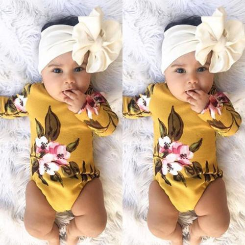 usa newborn infant baby girls romper playsuit