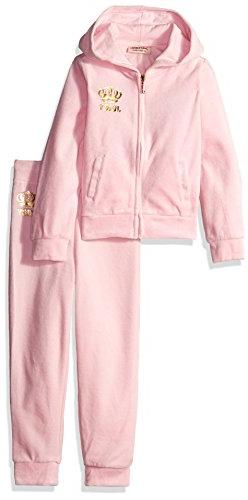 Juicy Couture Baby Girls' 2 Piece Velour Hooded Jacket Pant