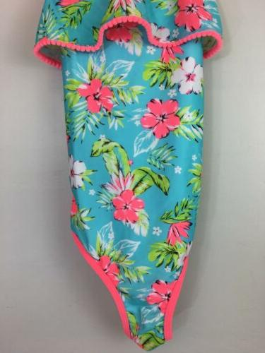 Youth Swimsuit, 9/10, Neon Floral