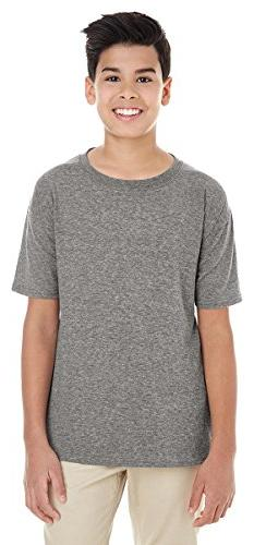 Gildan Youth Softstyle 45 oz T-Shirt - GRAPHITE HEATHER - L