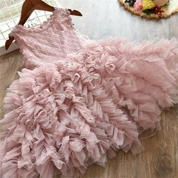 lace flower girl dress kids party princess