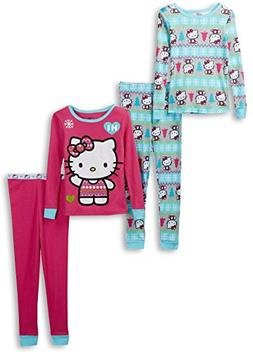 Hello Kitty Little Girls' 2 for 1 Cotton Set, Multi, 2T