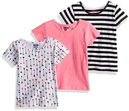 Limited Too Girls' Little 3 T-Shirt, Pack Arrows Stripes Sol