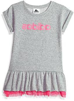 adidas Girls' Little Active Polo Dress, Sparkle Grey Heather