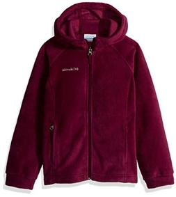 Columbia Girls' Little Benton II Hoodie, Dark Raspberry, Sma