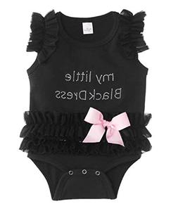 Baby My Little Black Dress Onesie, Black,