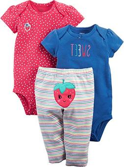 Carter's Baby Girls' 3 Piece Little Character Set,Multicolor
