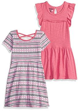 Limited Too Girls' Little 2 Pack Dress , Multi Print, 6