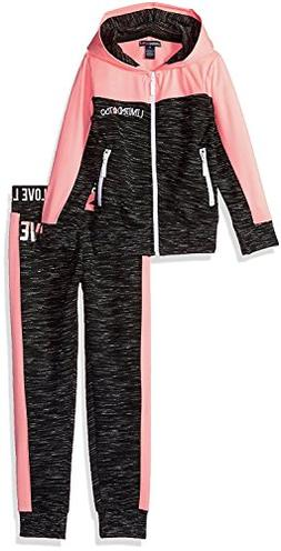 Limited Too Little Girls' 2 Piece Fleece Jog Set , Neon Ligh