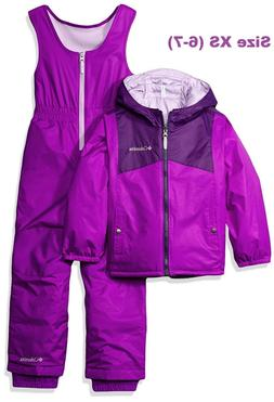 Columbia Little Girls' Double Flake Reversible Set, Iris Glo