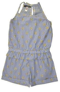 Kensie Little Girls Perriwinkle Pin Striped Romper Size 2T 3