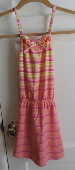 Juicy Couture Little Girls Pink Orange Yellow Stripe Summer