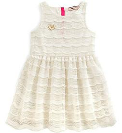 Juicy Couture Little Girls Sleeveless Vanilla Lace Dress Siz