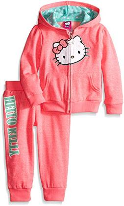 Hello Kitty Little Girls' Toddler 2 Piece Hoodie and Pant Se