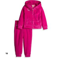 Juicy Couture Little Girls' Toddler 2 Piece Velour Hooded Ja