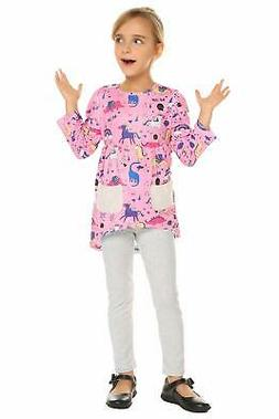 Balasha Little Girls Unicorn Clothing Sets Long Sleeve Bouti